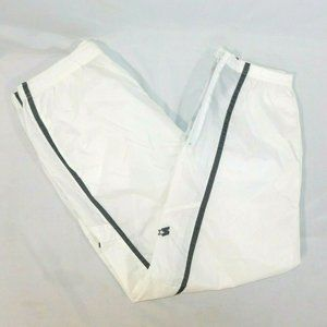 Vintage Starter Mens XL White Nylon Wind Pant